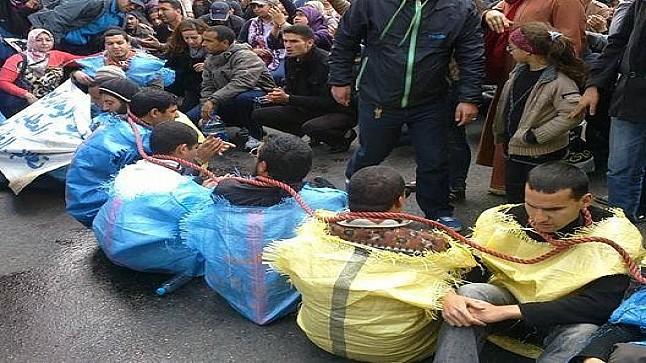 المكفوفون المعطلون يطلبون اللجوء خارج المغرب