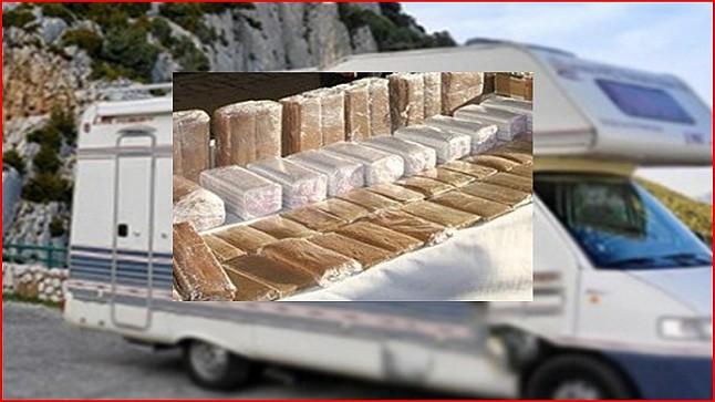 حجز 345 كلغ من مخدر الشيرا داخل عربة للتخييم بباب سبتة