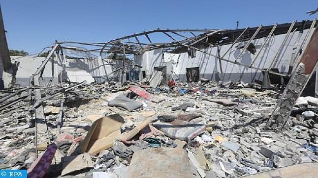 حصيلة جديدة لضحايا مغاربة في القصف الذي طال مركزا للهجرة بليبيا