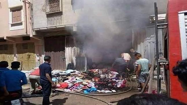 مفجع.. حريق بمحل للخياطة يودي بحياة زوجين بولاد تايمة
