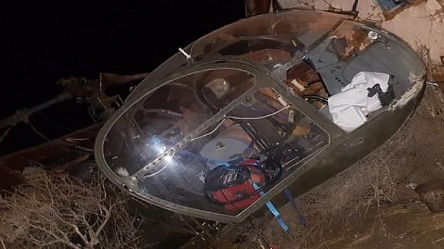 سقوط طائرة هليكوبتر إسبانية ضواحي مدينة أصيلا