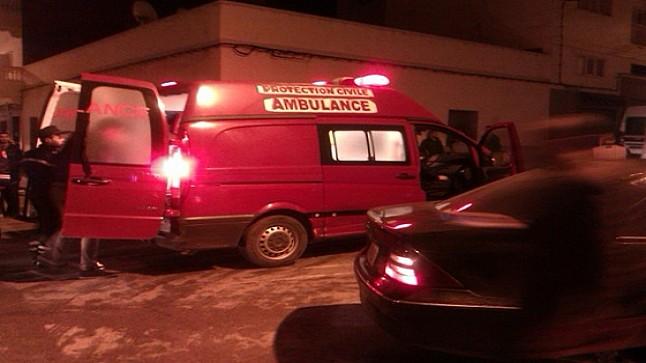 إصابة 6 أشخاص في حادث اصطدام سيارتين بين تيفلت وعين الجوهرة