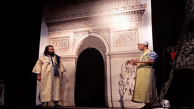 عرض مسرحية امرؤ القيس في باريس بمدينة الخميسات