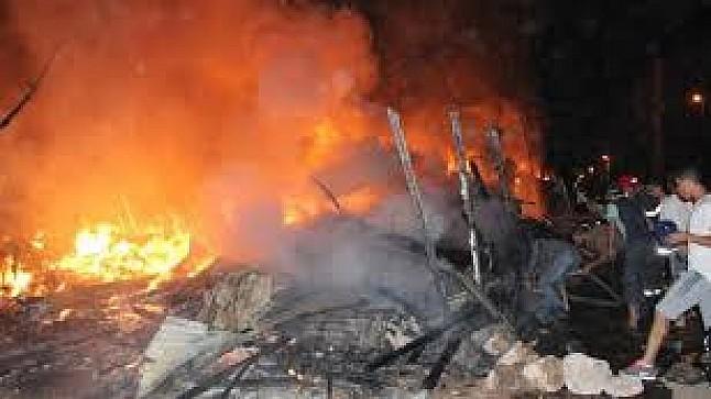 حريق مهول يلتهم سوقا للمتلاشيات بالبيضاء