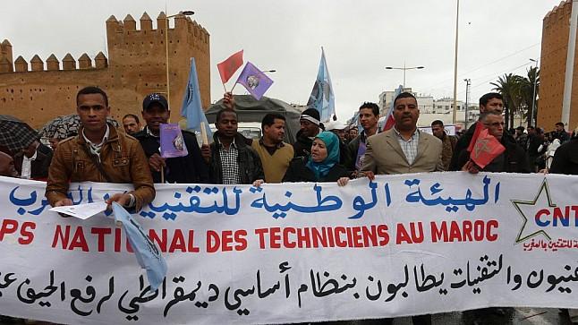 التقنيون المغاربة يستأنفون احتجاجاتهم بإضراب وطني جديد