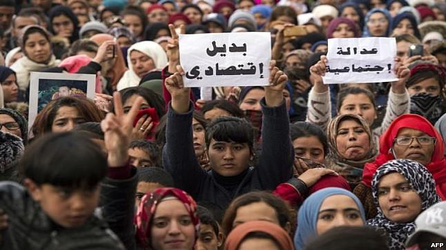 الاحتجاجات ..المغرب دبر أكثر من 18 ألف و800 حركة تظاهر في الشارع