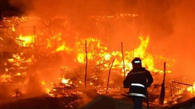 تفاصيل جديدة بخصوص اندلاع حريق بسوق المتلاشيات بأكادير
