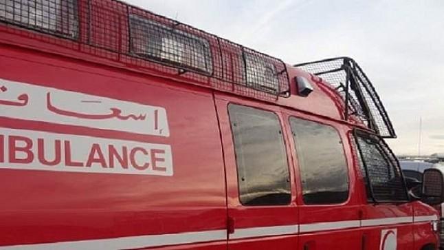 عشرات الجرحى في انقلاب سيارة فلاحية ضواحي بني ملال