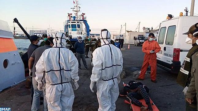 إنقاذ 21 مرشحا للهجرة السرية وانتشال جثتي امرأتين بالساحل البحري لطانطان