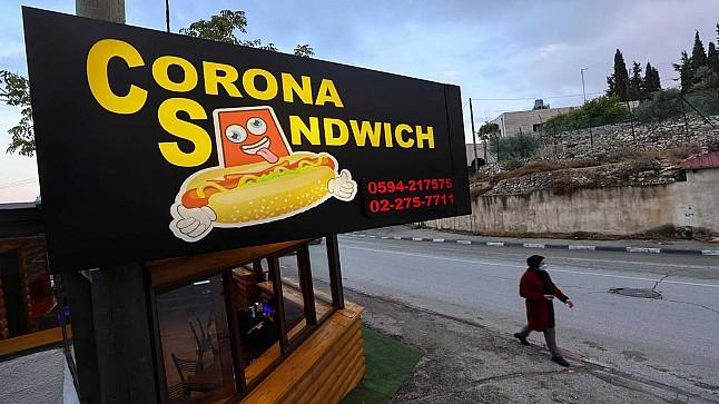 """مطعم فلسطيني يقدم سندويتش """"كورونا"""""""