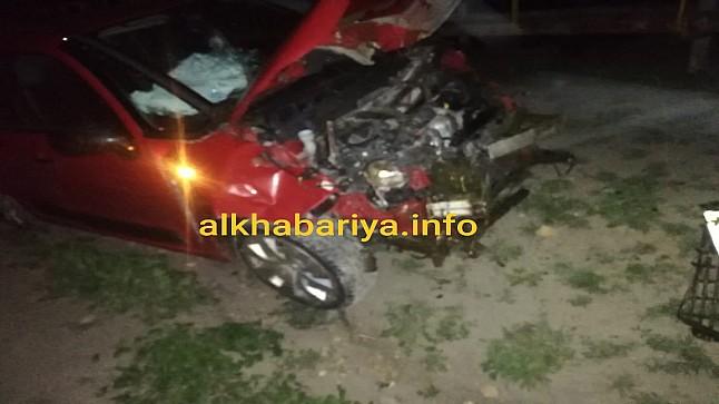 إصابة سيدة ونفوق 30 رأس غنم في حادثة سير ضواحي خريبكة (صور)