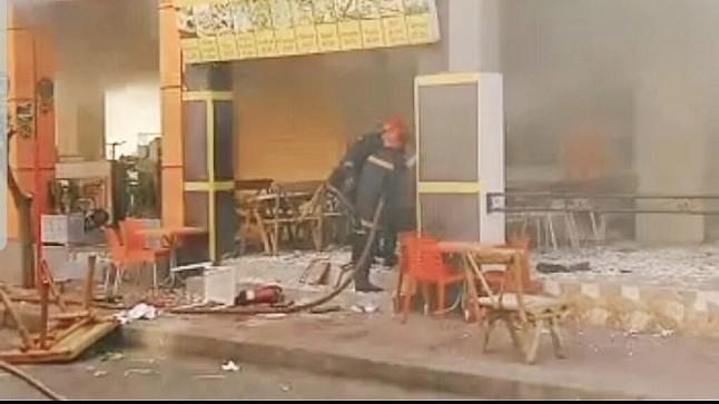 حريق يخلف خسائر فادحة بمحل للمأكولات الخفيفة بمراكش