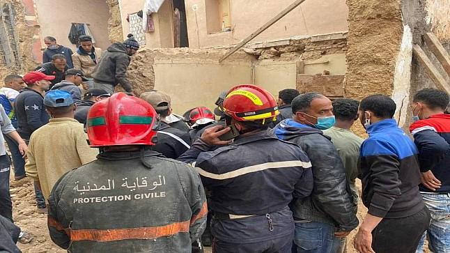 بني ملال: مصرع سيدة وإصابة ثلاثة آخرين في انهيار منزل