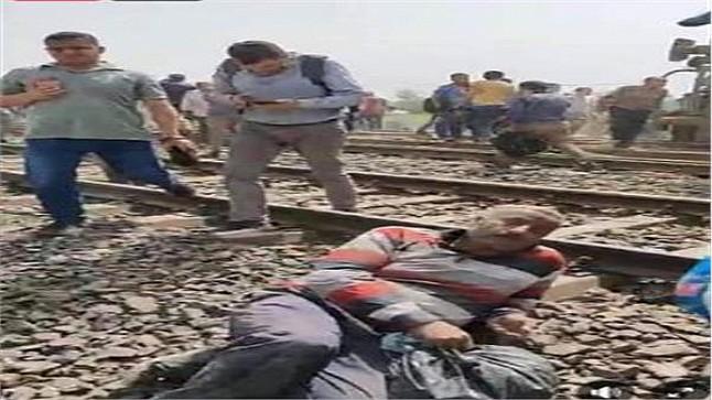 إصابة 97 شخصا في حادث خروج قطار عن سكته في مصر